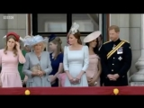The royals have started to gather on the Buckingham Palace balcony.
