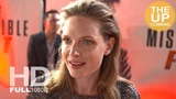 Rebecca Ferguson interview Mission Impossible Fallout, stunts while pregnant, at premiere in London