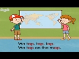 Word Families 5- We Tap on a Map - Level 1 - By Little Fox
