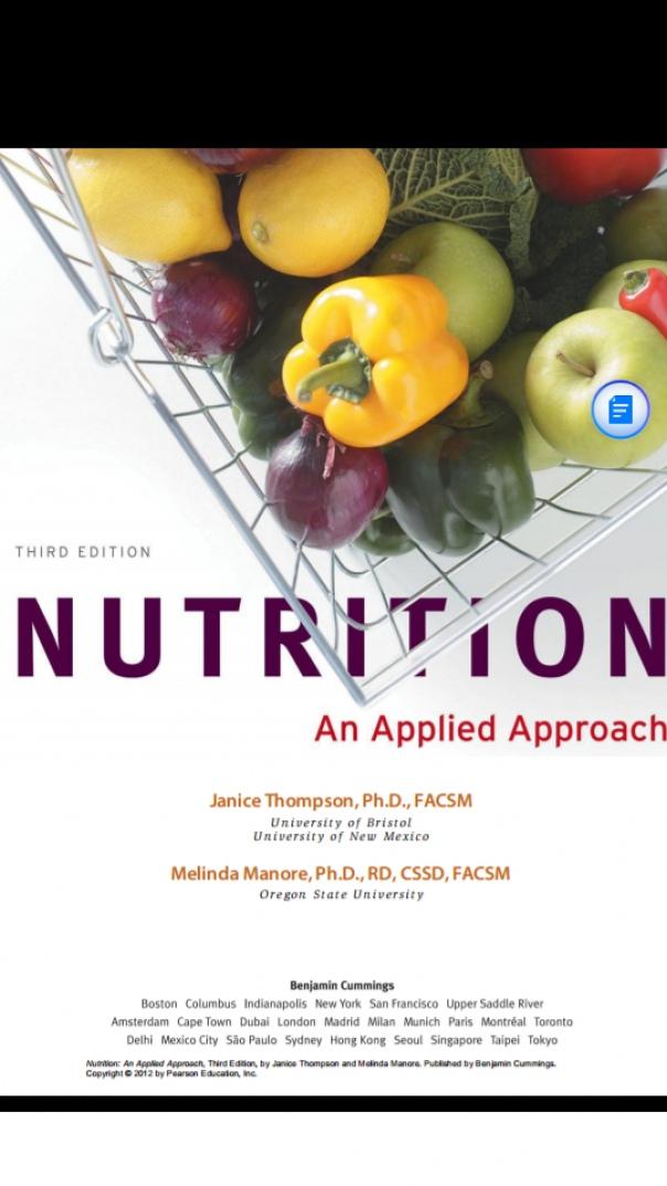 Nutrition - An Applied Approach