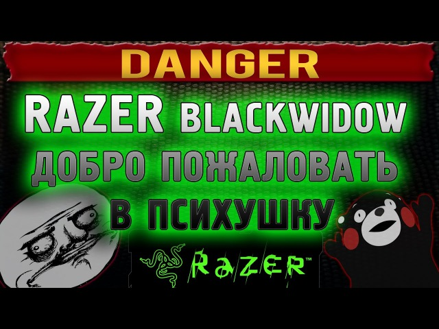 Razer BlackWidow обзор добро пожаловать в ПСИХУШКУ и АД