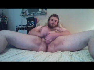 Hairy hunk with smooth tight balls