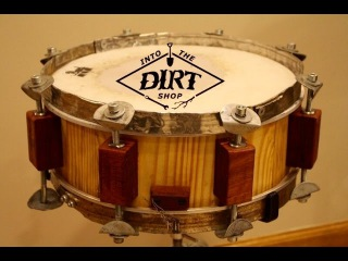 100% Upcycled Snare Drum Build Video Part 1
