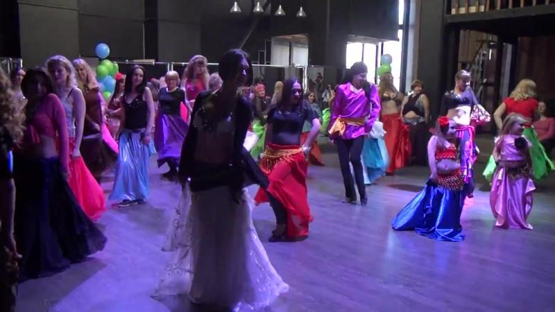Выступление на восточной вечеринке Maharajan Alearabic (Отчетный концерт Союза Школ BellyDance) 23.04.2017 (3)