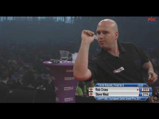 Rob Cross vs Steve West (European Darts Grand Prix 2017 / Round 3)