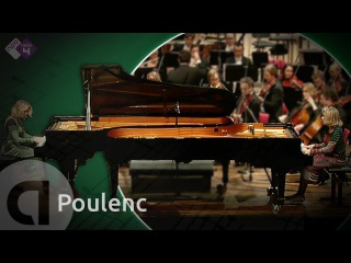 Poulenc: Concerto in D for 2 piano's - Florence & Isabelle Lafitte - Live Classical Music