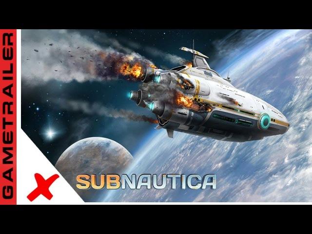 SUBNAUTICA OFICIAL CINEMATIC TRAILER NOVO GAME SUB AQUATICO DE MUNDO ABERTO 2018
