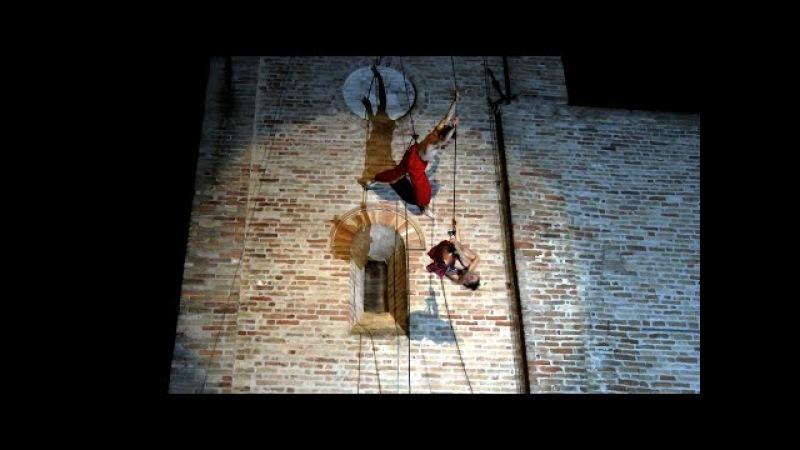 VERTICAL DANCE Templaria Festival 2014 Castignano Compagnia dei Folli Ascoli Piceno