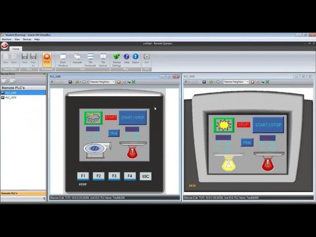 Функциональность локального HMI на платформе ПЛК Unitronics OPLC