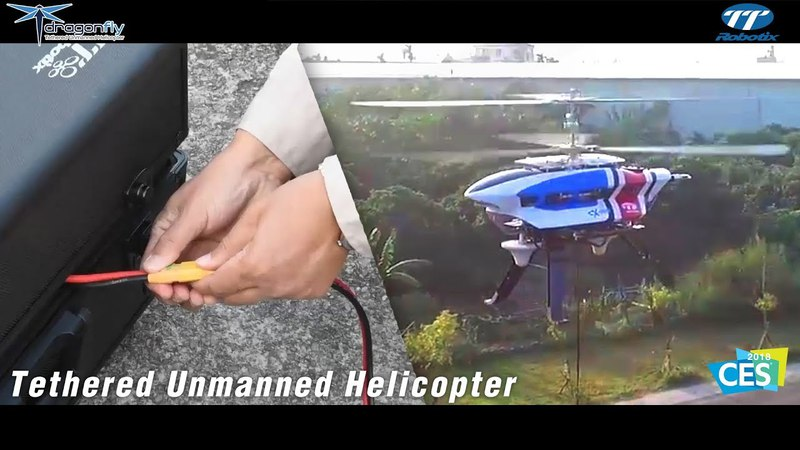 TTRobotix Dragonfly - Tethered Unmanned Helicopter Dragonfly LTE-Equipped Drone aka ATT FLYING COW