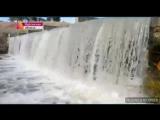 Курганский застывший водопад на Первом канале)