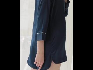 Fake silk shirt collar pajamas. Light the luxury of contracted