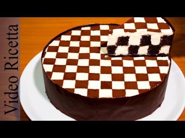 Torta a Scacchi Chess Cake con biscotti Oreo Video Ricetta