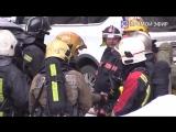 Прямая трансляция с места пожара на Коломяжском проспекте