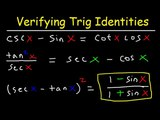 Verifying Trigonometric Identities &amp Equations, Hard Examples With Fractions, Practice Problems