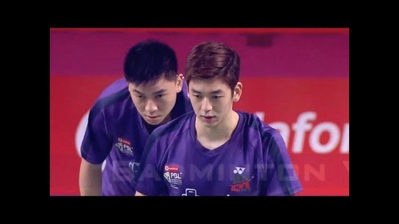 LEE Yong Dae TAN Boon Heong vs Vladimir IVANOV Ivan SOZONOV Badminton 2018 Premier League