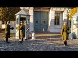 Смена караула у дворца Шандора резиденции президента Венгрии