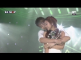 (150901) Kim Hyung Jun Cross The Line (feat.Ha Young of Playback) @ SBS MTV THE SHOW