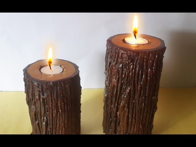 This is not WOOD! Learn How to Make Realistic Wooden Candle Holder frm CARDBOARD | Diwali Decoration