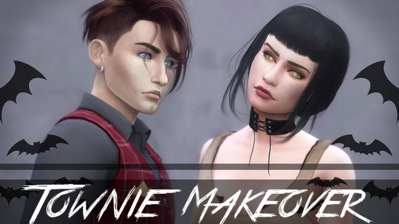 Sims 4 Townie Makeovers: Caleb and Lilith Vatore
