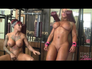 Dani Andrews and Megan Avalon in the gym can t stop touching