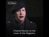 Marilyn Manson discusses the origin of his stage name [Interview for Channel 4 News]