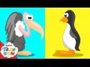 Дикая природа. Птицы! Мультик с Киндер сюрпризами. Учим птиц и животных для малышей.