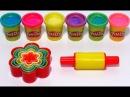 Учим цвета на английском с пластилином c блёстками Play Doh Sparkle и формочками
