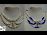 #91 How to Make Pearl Beaded Necklace Diy Jewellery Making