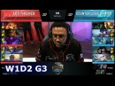 100 Thieves vs CLG | Week 1 Day 2 of S8 NA LCS Spring 2018 | 100 vs CLG W1D2 G3