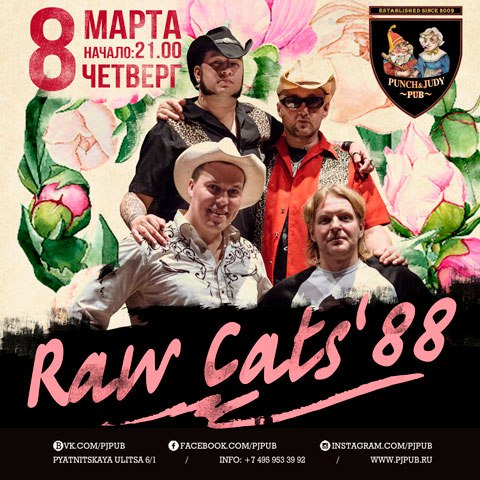 08.03 Raw Cats' 88 в пабе Punch and Judy!