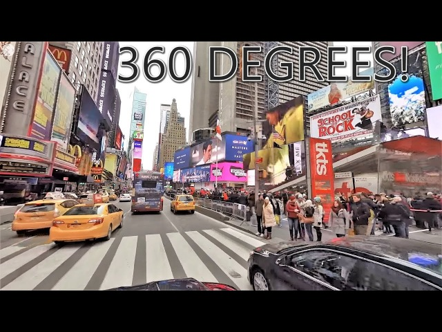 Driving Downtown 8K VR NYC's Times Square New York City USA