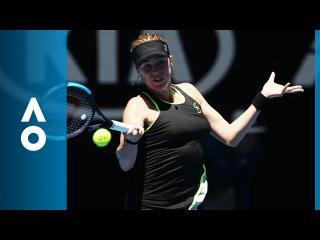 Anastasia Pavlyuchenkova v Kateryna Bondarenko match highlights (2R)   Australian Open 2018