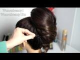 Свадебная прическа   Hairstyle for  long hair. Elegant braided updo. Fishtail braid