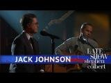 Jack Johnson and Stephen Colbert Perform 'Sleep Through the Static'
