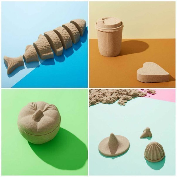 ЧУДО-ПЕСОК СВОИМИ РУКАМИ На вид это обычный песок, но в тоже время он отлично держит форму при лепке, почти как соленое тесто. Его можно, конечно, и купить, но стоит он довольно дорого и