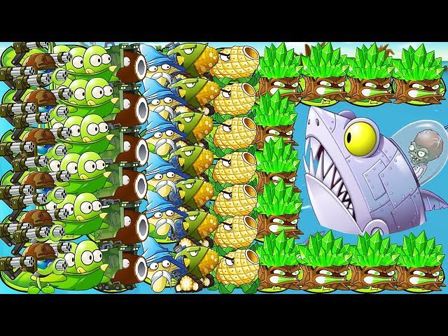 All Premium Plants Power-Up! (Chinese Version)Vs Zomboss Battles in Plants vs. Zombies 2 Chinese