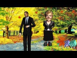 Barak Obama &amp Angela Merkel-Du hast mich 1000 mal belogen