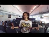 Певица Ерке Есмахан исполнила свой хит на борту самолета