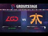 LGD vs Fnatic Game 1 - DOTA Summit 8: Group C - @Arteezy @Cr1t- @SumaiL @Blitz