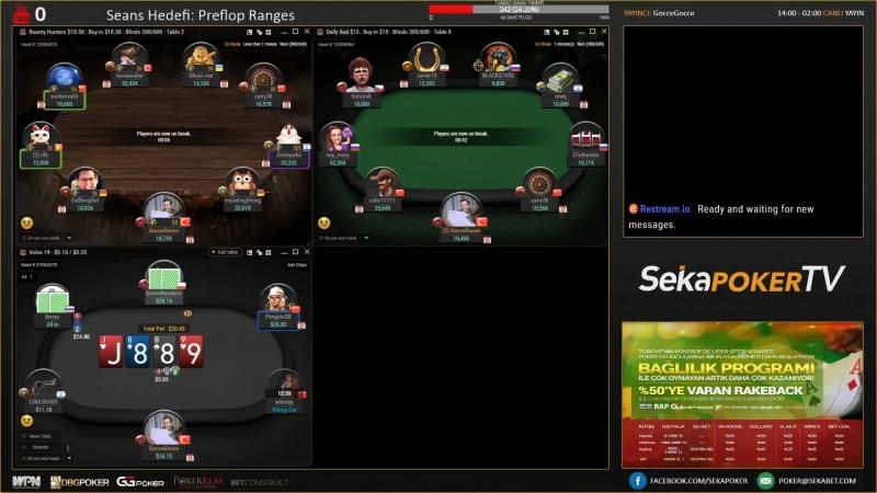 Seyranli On Air! Klas Network 10-20TL Teksas Holdem - Paralı Poker