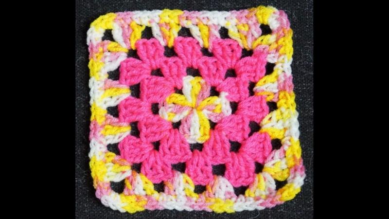 Вязания мотива для накидки или покрывала и два вида сборки.