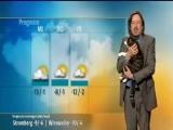 Cat Interrupts German Weather Report