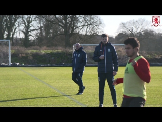 Video as tony pulis takes charge of boro training