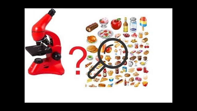 Еда под микроскопом Какой Вы Никогда ее Не Видели