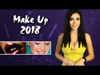 MakeUp 2018 / Новогодний макияж. Бензиновые губы, стробинг #MODELING Channel