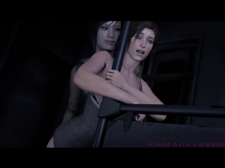 Lara Croft - lesbian train molesters