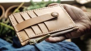 Making a Leather Zipper Clutch Wallet