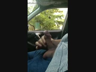 Public dick car flash with cum 43 - She looks