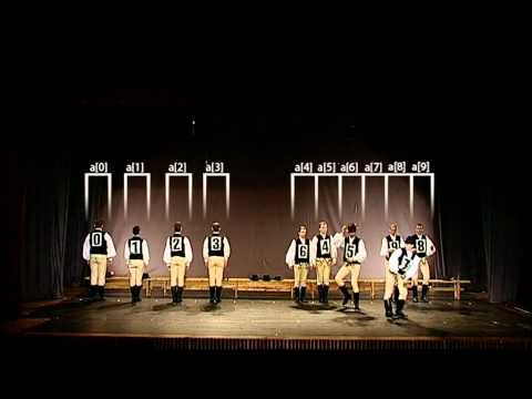 Видео Quick-sort with Hungarian (Küküllőmenti legényes) folk dance смотреть онлайн
